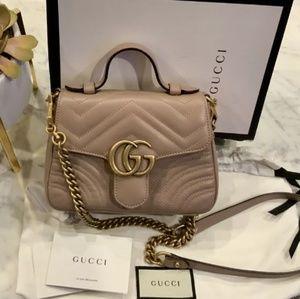 Gucci marmont top handle bag